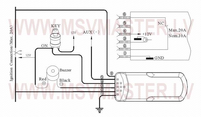 Wiring diagram CarSTOP CS-7000